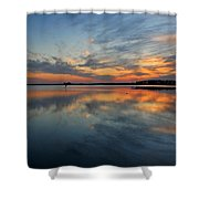 Blackwater Reflection Shower Curtain