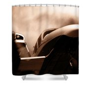 Blade Landing Shower Curtain
