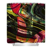 Blades In The Layered Worlds Shower Curtain