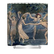 Blake: Fairies, C1786 Shower Curtain