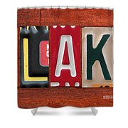 Blake License Plate Name Sign Fun Kid Room Decor Shower Curtain