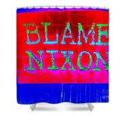 Blame Nixon Shower Curtain