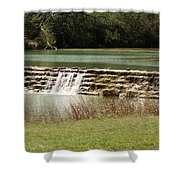 Blanco River Weir Shower Curtain