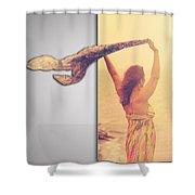 Blank Greeting Card 6 Shower Curtain