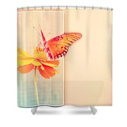 Blank Greeting Card Shower Curtain