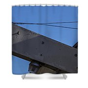Blank Sign 3 Shower Curtain