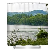 Blanket Of Fog On Clinch River  Shower Curtain