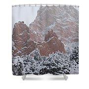 Blanketed Grandeur - Garden Of The Gods Shower Curtain