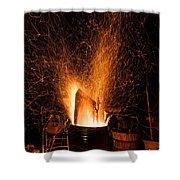 Blazing Bonfire Shower Curtain
