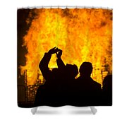 Blazing Fire Shower Curtain