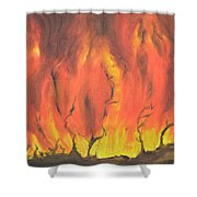 Blazing Fire Shower Curtain