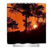 Blazing Sunset Shower Curtain