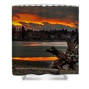Blazing Sunset II Shower Curtain