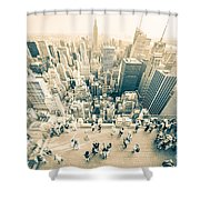 Bleached Manhattan Shower Curtain