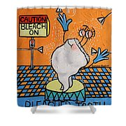 Bleached Tooth Shower Curtain by Anthony Falbo