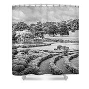 Bleak Topiary  Shower Curtain