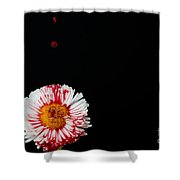 Bleeding Flower Shower Curtain