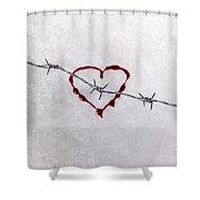 Bleeding Love Shower Curtain