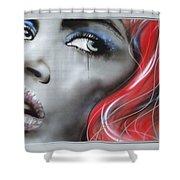Bleeding Rose Shower Curtain