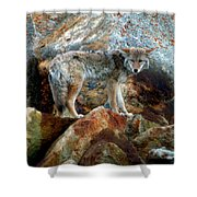 Blending In Nature Shower Curtain