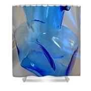 Blenko Blue Shower Curtain