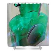 Blenko Green Shower Curtain