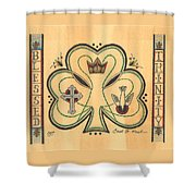 Blessed Trinity Shower Curtain