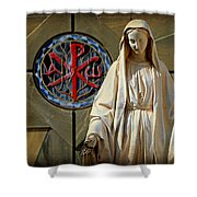 Blessed Virgin Mary -- Nazareth Shower Curtain