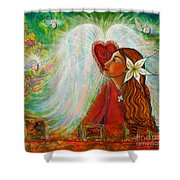 Blessed Visit  Shower Curtain
