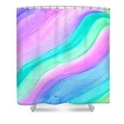 Blessing Flowing Shower Curtain