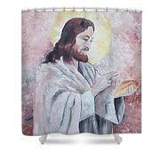 Blessing Of The Bread Shower Curtain