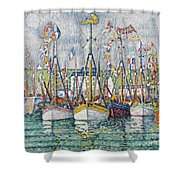 Blessing Of The Tuna Fleet At Groix Shower Curtain