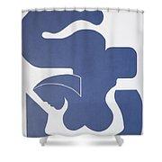 Bleu Sensation Shower Curtain