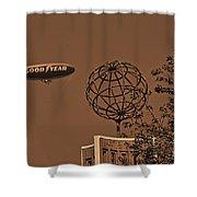 Blimp Over Usc Shower Curtain