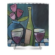 Blind Date With Wine Shower Curtain