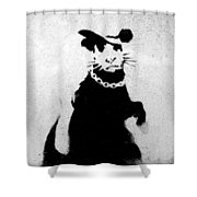 Bling Rat  Shower Curtain