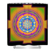 Bliss Yantra Shower Curtain