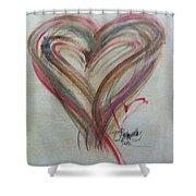 Blissful Heart Shower Curtain