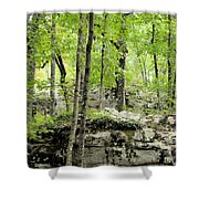 Blissfully Peaceful Shower Curtain