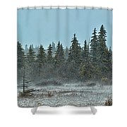 Blizzard Conditions Shower Curtain