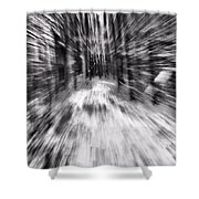 Blizzard In The Forest Shower Curtain