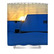 Blizzard Sunrise Shower Curtain