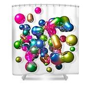 Blobs Of Fun... Shower Curtain