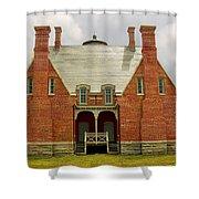 Block Island Southeast Light -back View Shower Curtain