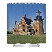 Block Island Southeast Lighthouse Shower Curtain