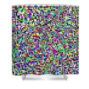 Blocks And Swirls Shower Curtain