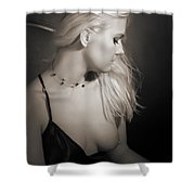 Blond Girl With Naked Breast 1287.01 Shower Curtain