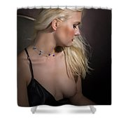Blond Girl With Naked Breast 1287.02 Shower Curtain