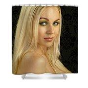 Blonde Beauty Shower Curtain