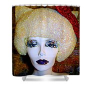 Blonde Fro Shower Curtain